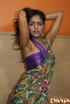 Dark haired young indian babe in national outfit…