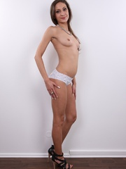 Petite body reality brunette in white undies - XXXonXXX - Pic 9