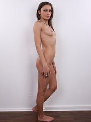 Petite body reality brunette in white undies - XXXonXXX - Pic 13