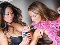 Two lesbian mistress having hot fun with their enslaved - Picture 2