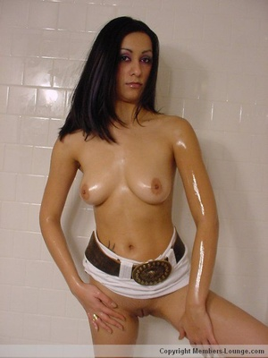 Tall Indian sex model taking shower topless and in white skirt - XXXonXXX - Pic 9