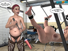 Horny 3d guy can't stand his desire and licking - Picture 5