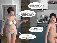 Mature 3d milf brunette slowly taking off her white - Picture 5