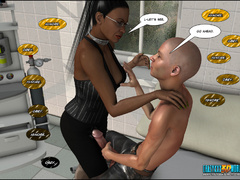 3d nasty bald guy seduced older ebony chick in sexy - Picture 5