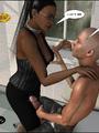 3d nasty bald guy seduced older ebony - Picture 5