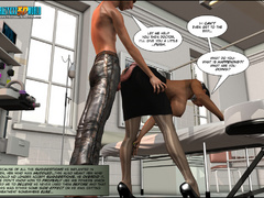 3d nasty bald guy seduced older ebony chick in sexy - Picture 11