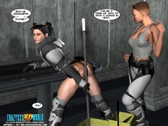 Two military 3d hotties decided to have some lesbian - Picture 10