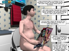 Naked 3d guy gets caught sitting naked with rockhard - Picture 8