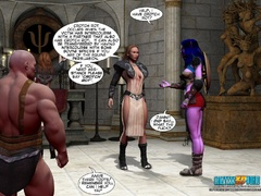 Redhead 3d elf chick with awesome boobs willingly - Picture 2