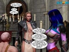 Redhead 3d elf chick with awesome boobs willingly - Picture 4