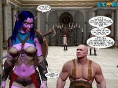 Redhead 3d elf chick with awesome boobs willingly - Picture 5