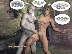 Blonde 3d gay taking off his clothes and fucking - Picture 12