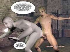 Blonde 3d gay taking off his clothes and fucking - Picture 14