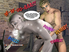 Blonde 3d gay taking off his clothes and fucking - Picture 15