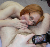 Cum hungry redhead wife taking off her white&hellip;
