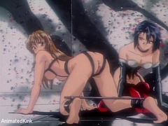 Xxx bdsm art pics of tied up hentai babes forced to give - Picture 8