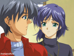 Sexy shaped anime chick and her lover trying 69 position - Picture 1
