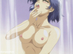 Sexy shaped anime chick and her lover trying 69 position - Picture 15