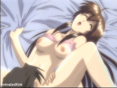 Tied eagle spread anime stunner with awesome titties - Picture 12