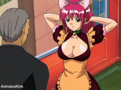 Enslaved manga babe with pink hair forced to suck - Picture 13