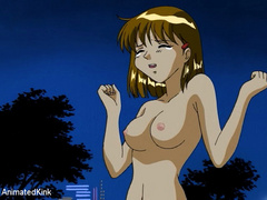 Captured in the park young manga beauty gets her pussy - Picture 4