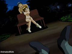 Captured in the park young manga beauty gets her pussy - Picture 7
