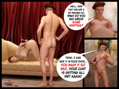 Redhead gagballed 3d hottie forced to - BDSM Art Collection - Pic 4