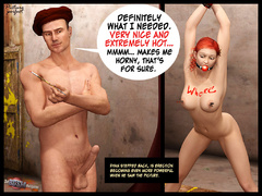 Redhead gagballed 3d hottie forced to - BDSM Art Collection - Pic 6