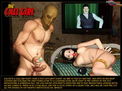 Enslaved 3d brunette gets gag balled - BDSM Art Collection - Pic 1