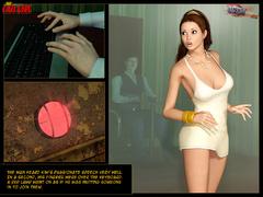 Enslaved 3d brunette gets gag balled - BDSM Art Collection - Pic 2