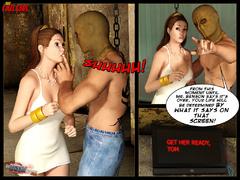 Enslaved 3d brunette gets gag balled - BDSM Art Collection - Pic 4
