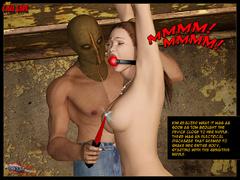 Enslaved 3d brunette gets gag balled - BDSM Art Collection - Pic 5