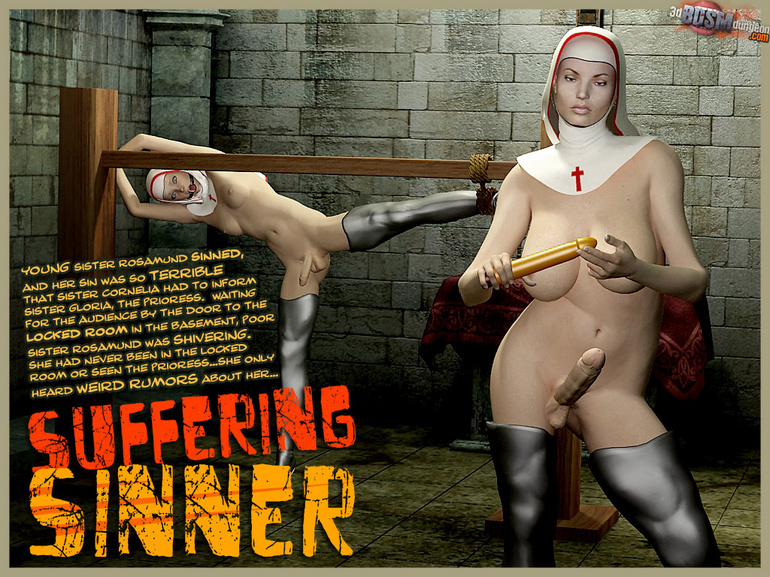A pair of 3d shemale nuns loving bdsm - BDSM Art Collection - Pic 1