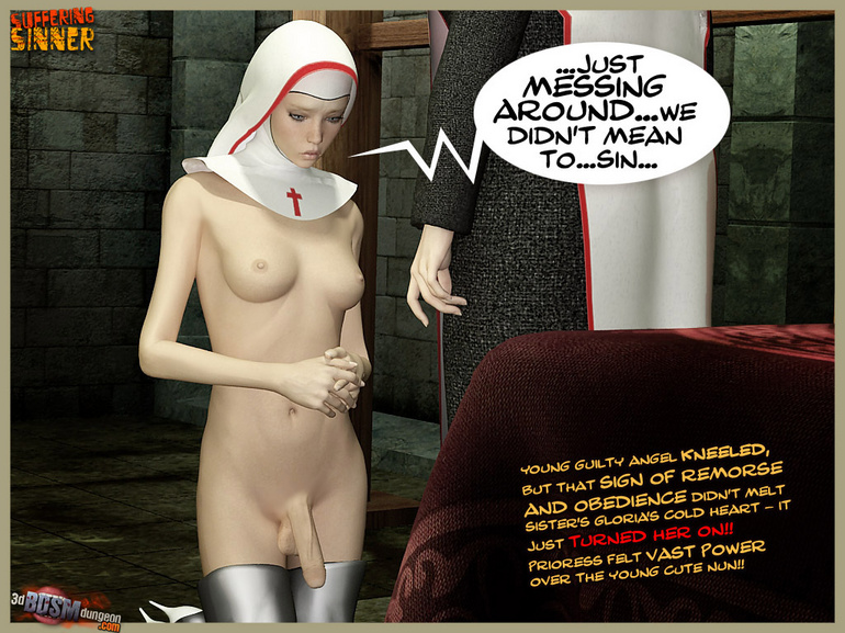 A pair of 3d shemale nuns loving bdsm - BDSM Art Collection - Pic 2