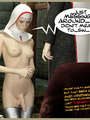 A pair of 3d shemale nuns loving bdsm sex enjoying hardcore cock blowing and ass toying action.