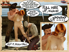 Captured by pirates redhead nude 3d - BDSM Art Collection - Pic 6