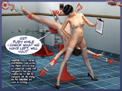 Tied eagle spread busty 3d chick gets - BDSM Art Collection - Pic 6