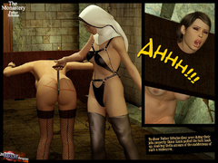 Two 3d naked babes in stay ups - BDSM Art Collection - Pic 5