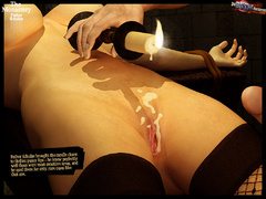 Two 3d naked babes in stay ups - BDSM Art Collection - Pic 10