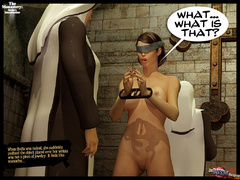 Blindfolded 3d slave hottie with big - BDSM Art Collection - Pic 3