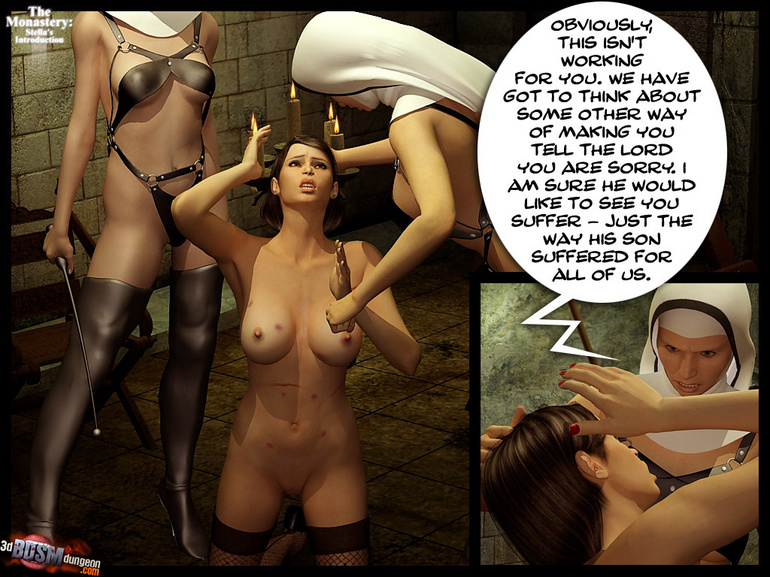 Blindfolded 3d slave hottie with big - BDSM Art Collection - Pic 7