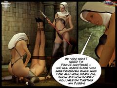 Blindfolded 3d slave hottie with big - BDSM Art Collection - Pic 8