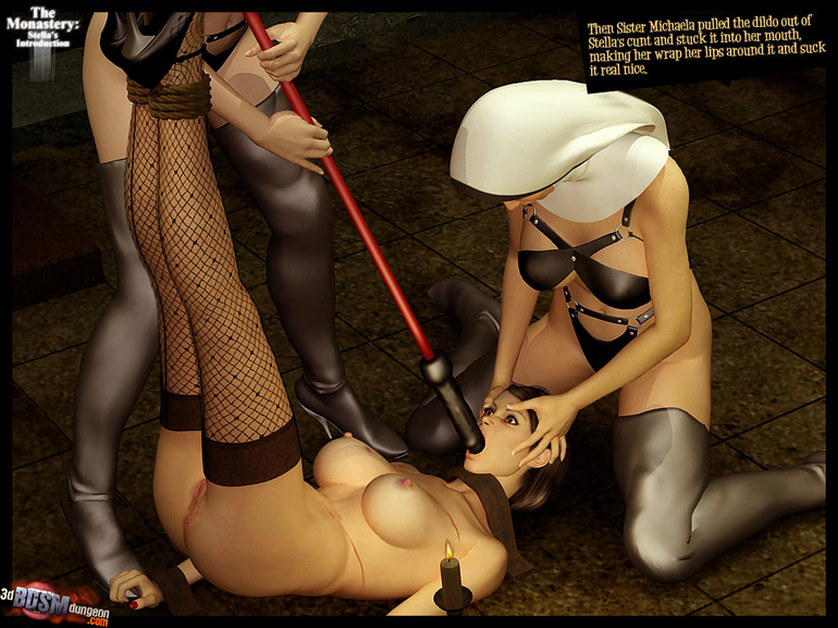 Blindfolded 3d slave hottie with big - BDSM Art Collection - Pic 11