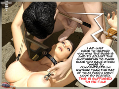 3d collared bimbo in red undies gets - BDSM Art Collection - Pic 9
