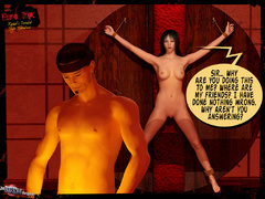 Tied up naked 3d babe hanged by her - BDSM Art Collection - Pic 2