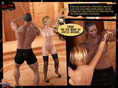 Beautiful blonde 3d chick in black stay - BDSM Art Collection - Pic 5