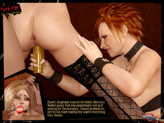 Beautiful blonde 3d chick in black stay - BDSM Art Collection - Pic 9