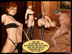 Beautiful blonde 3d chick in black stay - BDSM Art Collection - Pic 10