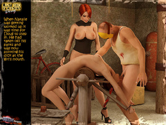 Masked 3d crazy guy and gis busty - BDSM Art Collection - Pic 5