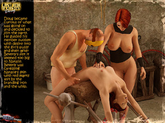 Masked 3d crazy guy and gis busty - BDSM Art Collection - Pic 7